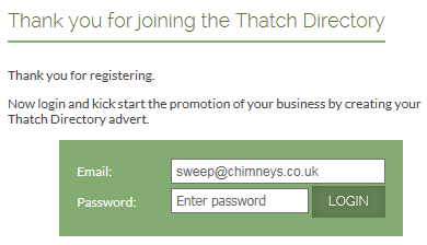 Advertiser Login Form